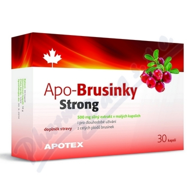 Obrázek Apo-Brusinky STRONG 500mg 30cps.
