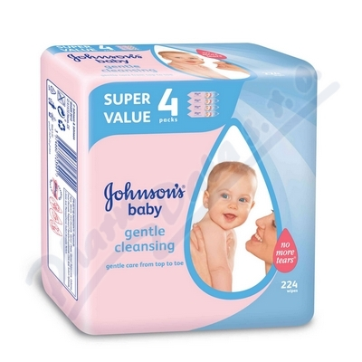Obrázek JOHNSON Baby wipes Gentle Cleansing 224k