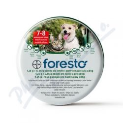 Foresto 1.25g+0.56g obojek koč+psi do8kg