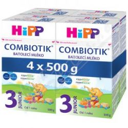 HiPP MLEKO 3 JUNIOR Combiot.4x500g 10392
