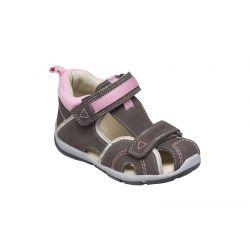 Santé SK 333 KHAKI-ROSA dívčí zdravotní sandál hnědo-růžový f187ea83f3